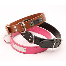 SYDZSW PU Leather Pet Collar DIY Lettering Adjustable Dog Collar for Small Medium Large Dogs Pet Supplies Dog Products S M L XL(China)
