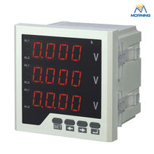 3AV33 voltage meter panel size 96*96mm factory price programmable AC three phase LED digital display voltmeter