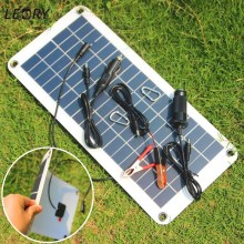 LEORY 10.5W 18V 1A Polycrystalline Solar Panel Charger Sunpower Solar Cells For Camping Car 12V Battery 5V Phone Solarparts