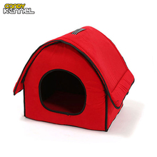 CANDY KENNEL Pet Bones Home Shape Pet House Dog Bed Nest Dog Kennel For Puppy Dogs Cat Small Animals Removable Cover D1016(China)