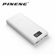 PINENG Power Bank 20000mAh PN-969 External Battery Pack Power with LED Indicator Dual USB Output for ipfone6s Samsung S7 Xiaomi(Hong Kong)