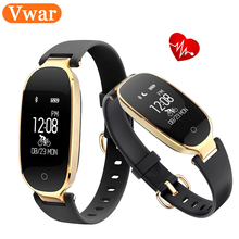 Vwar Lady Fashion S3 Smart Bracelet Bluetooth Remote Control Camera and Music Smart Band Heart Rate Tracker Sleep Monitor