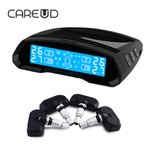 CARUED TPMS U802 Tire Pressure Monitoring System Support Bar/PSI 4 PCS Built-In Sensors Car Electronics Long Battery Life Alarm