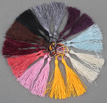 100PCs Mixed Silky Fringe Decorative Tassel New DIY Accessories For Jewelry Garment Curtain Craft 5*8cm(China)