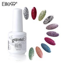 Elite99 15ml Nail Art Decorations UV LED Gel Lacquer Fashion Nail Gel Single Color Pick 1 Color UV LED Gel Nail Polish(China)