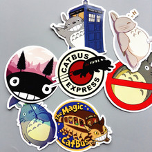 6Pcs/lot My Neighbor Totoro Sticker For Refrigerator Phone Skateboard Car Laptop Bicycle Notebook Backpack Case Anime Stickers