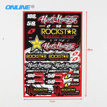Rockstar graphic sticker general cheap stickers personalized decal sticker fit motorcycle motorcross atv scooter dirt pit bike