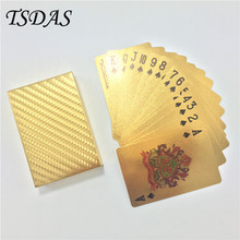 Golden Mosaic Playing Cards 24k Gold Foil Plated Casino Poker Custom Printed Card For Party Free Shipping