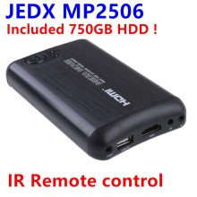 Included 750GB HDD MP2506-F10 3D 2.5 SATA Full HD 1080P Media player Remote control,RM,MKV,H.264,AV,HDMI SD Card USB HDD