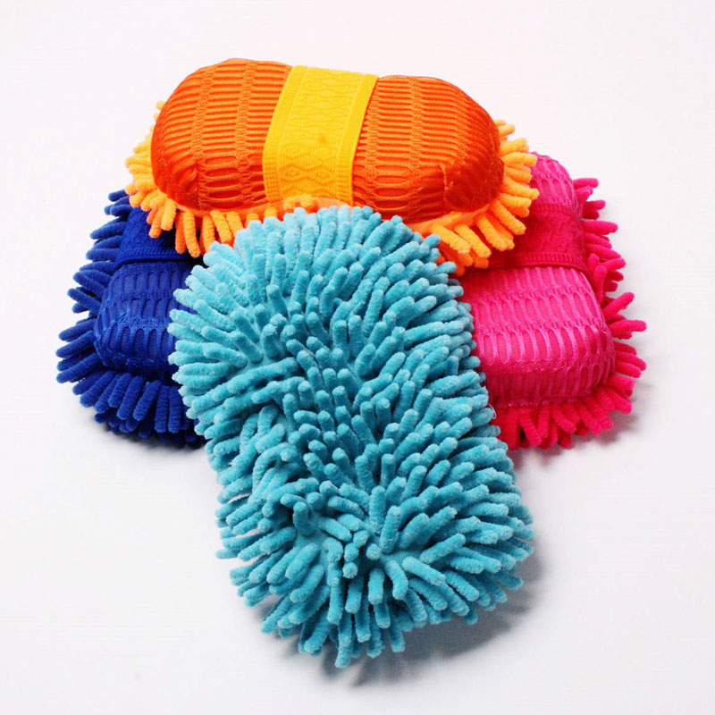 Car Wash Gloves Car Cleaning Sponge Car Window Cleaning Ultrafine Fiber Chenille Anthozoan Washer Sponge Brush Supplies(China (Mainland))