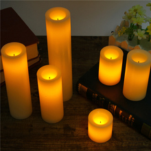 LED electronic flameless wedding candle /dia.5cm or 7.5 cm option/home mini. lamp/ Marriage party/holiday decoration