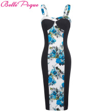 Buy Sexy Women Summer Dress 2018 Ladies Straps Pencil Woman Bodycon Casual Retro Vintage Floral Print Club Party Dresses Vestidos for $13.78 in AliExpress store