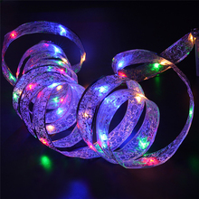 Multi Color 40 Pcs LED Ribbon Window Curtain Lights String Lamp House Party Decor Striking Christmas Home Garden Decor Lights(China)
