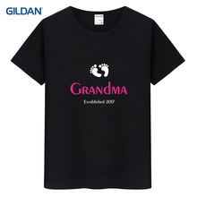 Tee Shirt Manufacturers 2017 Mothers Day Grandmother Rude T Shirt Summer Discount T-Shirt Cotton Simple Clothing(China)