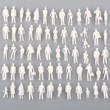 Whoelsale 100pcs Model Train People Figure Passengers 1:100 HO Scale Models Sand Table Toys(China)