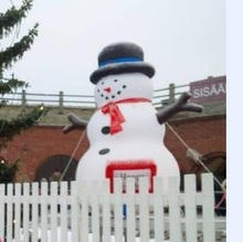 1pc inflatable chirstmas snow man 2-3m free shipping(China)