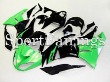 Fairings Fit Kawasaki Ninja ZX6R ZX-6R 636 Year 09 10 1112 2009 2010 2011 2012 ABS Motorcycle Fairing Kit Bodywork Green Black(China)