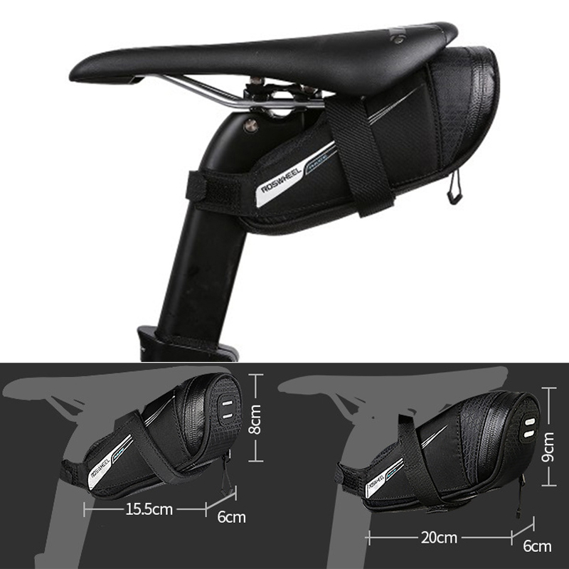 Bicycle Saddle Bag Tear Resistant Rainproof Cycling Rear Seat Bags MTB Road Bike Tail Repair Tools Pouch Bike Accessories BG0090 (11)