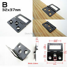 25x Foldable Hinge Self Attach Picture Photo Frame Backboard Barbed Sawtooth Saw Tooth Hanger Hook No need screw Nail Nailless B
