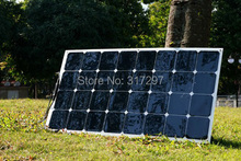 100W High Efficiency Semi-Flexible Solar Panels Sunpower Solar Cell Solar Modules for RV/Boat/Golf Cart/Marine/Yachts/Home Use