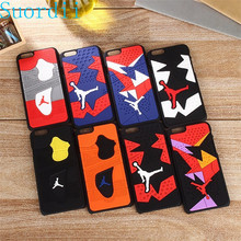 3D Jordan Shoe Sole PVC Rubber Case For iPhone 7 7 plus Jumpman 15 Phone Cases Cover For iphone 7 5.5 inch