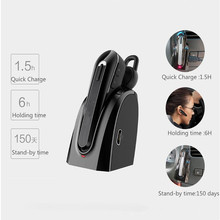 Wholesale Wireless Bluetooth 4.0 Car Earphone Handfree Universal Stereo Car Bass Headset Earphones with Microphone For iPhone