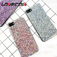 Phone Cases Luxury Glitter Powder Shinning Soft Covers For iphone 6 6S Plus Love Heart Phone Capa Fundas(China)