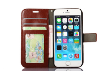 Luxury Protetora For iPhone Hoesjes 5 5S SE Cell Phone Stand Wallet Leather Flip Cover Bags Skin For iPhon 5S Case For iPhone SE(China)