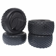 "4PCS 2.2"" RC Buggy Tires Front and Rear With Foam Inserts OD: 85mm/3.34"" For 1/10 Scale Remote Control Model Car Tyres(China)"