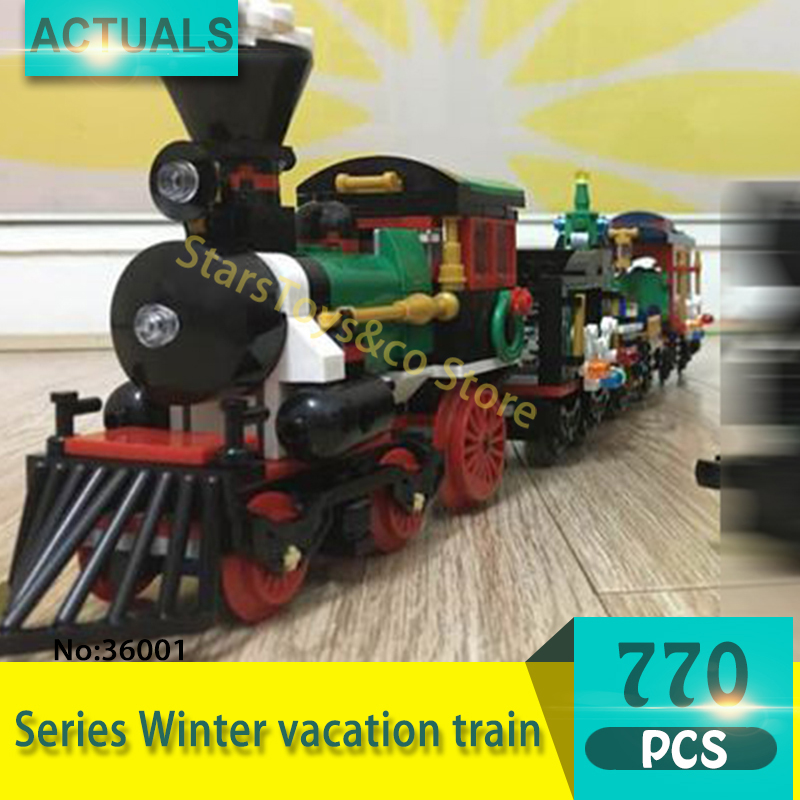 Lepin 36001 770Pcs Creative Variety Series Winter vacation train Model Building Blocks Bricks Toys For Children Gift<br>