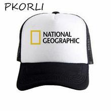 Gorra de béisbol de canal Geográfico Nacional Pkorli para hombres y mujeres  con estampado de tamaño f9e2dea3761