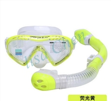 Children diving mask Breathe tube Snorkel set glasses Swimming fishing pool equipment goggles scuba Clear underwater 3 colours
