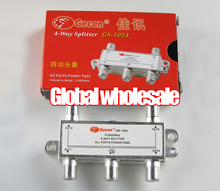 4pcs GS-1024 5-2400MHz 4-way splitter / 4-channel satellite signal power splitters(China)