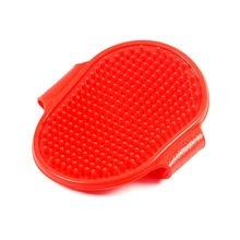 Rubber Oval Cat Dog Pet Cleaning Massage Grooming Bath Brush Comb with Adjustable Strap Comb Hair Grooming Tools Dog Supplies