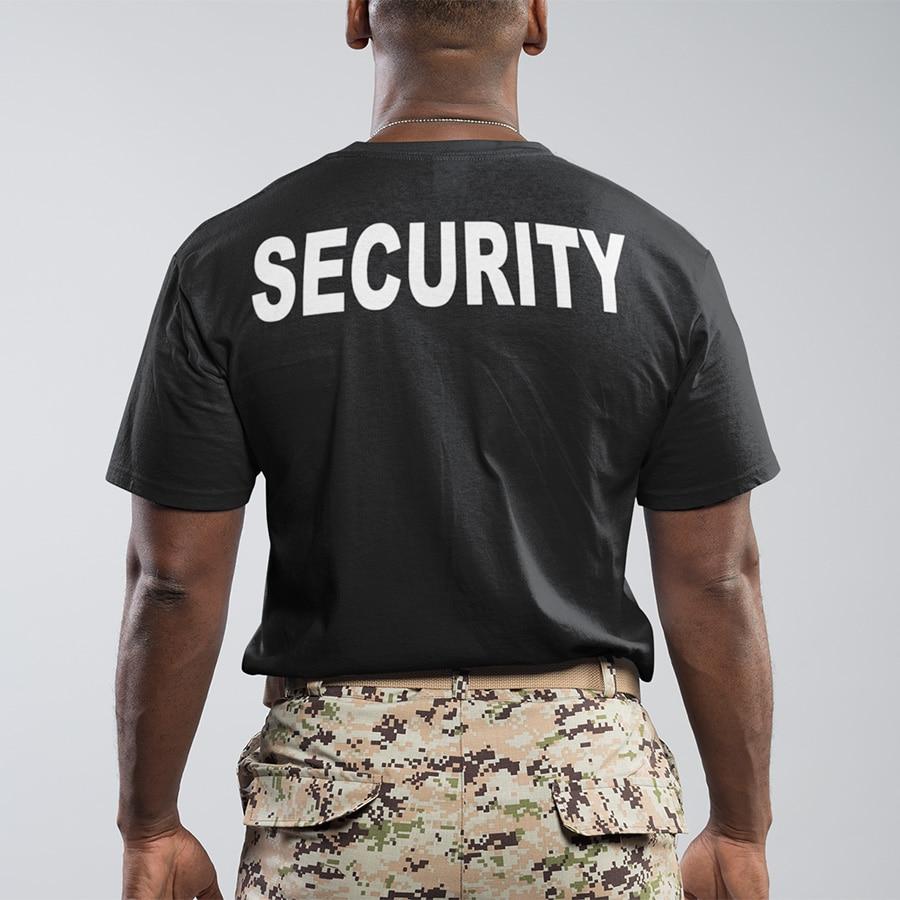 YELLOW SECURITY POLO SHIRT DOORMAN BOUNCER BODYGUARD PRINTED T-SHIRT