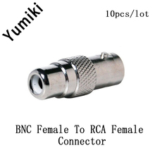 10pcs/lot RCA Female to BNC Female plug for CCTV Camera Security RCA BNC Connector for Video Camera