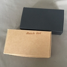 50pcs/lot-13.3*6.8*1.8cm Blank Brown Carton Kraft Box, Gift Packing Boxes, Soap Packaging, Storage Item Aircraft box