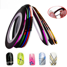 1 x Fashion 1mm/2mm/3mm/6mm Nail Rolls Striping Tape Line Decorations Nail Sticker DIY for Nail Art UV Gel Polish Tips BEND213(China)