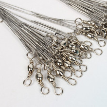60pcs Lot Silver 8kg/10kg/12kg Saltwater Stianless Line Wire Leader Fishing Tool(China)
