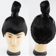 hair wig ancient chinese man cosplay ancient chinese wig warrior hair ancient studio photograph han dynasty cosplay for man
