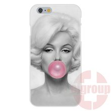 popular marilyn monroe with bubble gum Soft TPU Silicon Skin Painting For Sony Xperia M2 M4 M5 C3 C4 C5 X