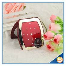 European Luxury Style Swarovski Double Sides Cosmetic Mirror for Valentine Gifts