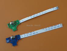 100pcs=50sets High Quality 12pin 14pin LED Power / Charging PCB Board with flex Ribbon Cable for PS4 Controller