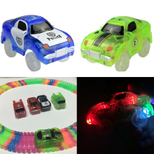 Electronics Car Flashing Lights Magic Tracks Car 5 LED Lights Glowing Track 7 Models Boys&Girls Educational Toy For Children