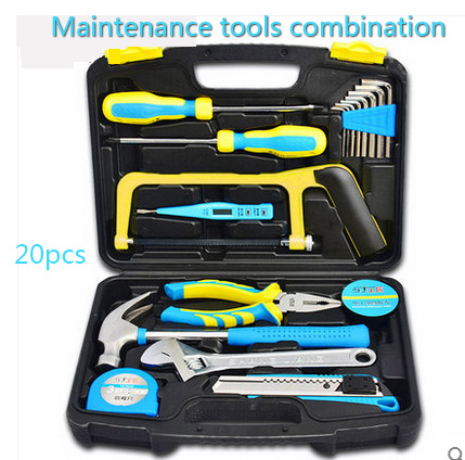 Multi-function metal toolbox Electrician, woodworking, maintenance tools hacksaw Hexagon wrench Household maintenance tools<br>
