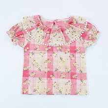 Kids New baby Girls Tshirt cute lace Child Clothing Childrens Tops Summer Clothes Short Sleeve Tee blouse shirts