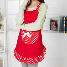 2017 Promotion Special Offer Apron Kit Bib Apron Ladies Pretty Princess Style Pink Black Red Aprons Gowns Suits for Women