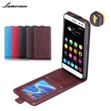 LAMOCASE ZTE Blade V7 Lite Phone Case Imprint Butterfly Flowers Vertical Leather Bag Cover + Card Slot - Shenzhen Gosun Trading Co., Ltd store