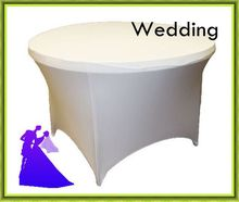 "10pcs Many Colors Spandex wedding Table Cover 72"" Inch Round FREE SHIPPING(China)"