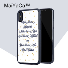 Buy MaiYaCa GOSSIP GIRL Quotes TPU Case Apple iphone X Rubber soft shell iPhone X case Phone protective cover for $4.77 in AliExpress store
